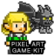 2D Pixel Game Kit 4 of 5 w character sprites & more