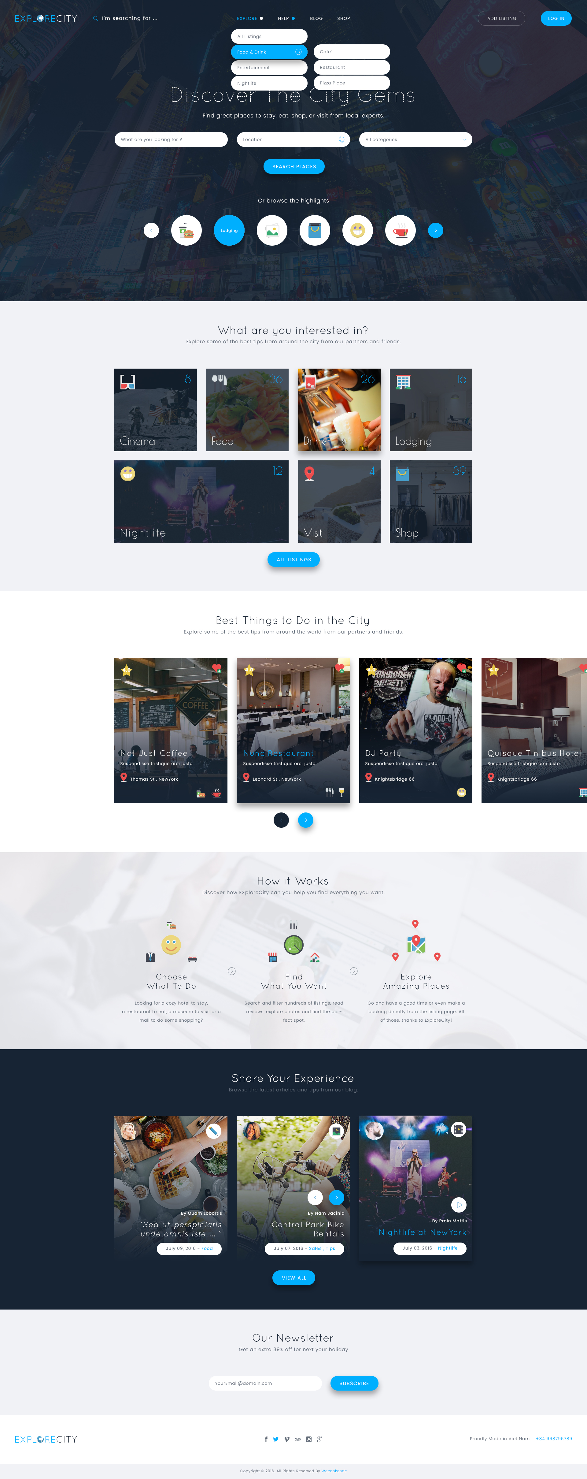 Explore City Directory Listing Psd Template By