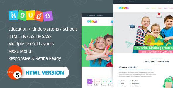 Download Koudo EducationHTML5 Template