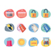 Shopping Icons Retro Revival Collection - Set 9 - GraphicRiver Item for Sale