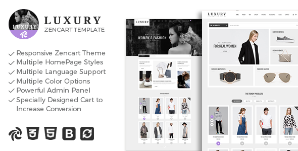 Luxury - Responsive Zencart Theme