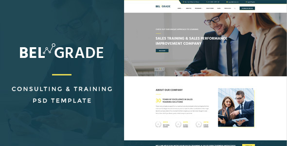 Belgrade : Training & Consulting PSD Template