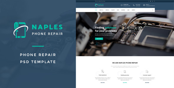 Naples : Phone Repair PSD Template