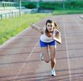 woman jogging at early morning