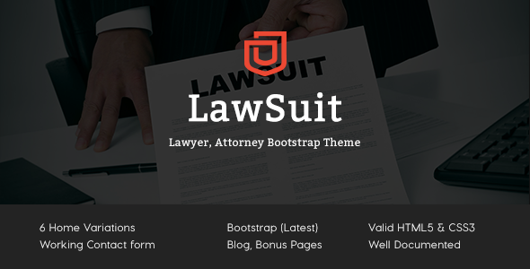 Lawsuit - Lawyer, Attorney HTML Template