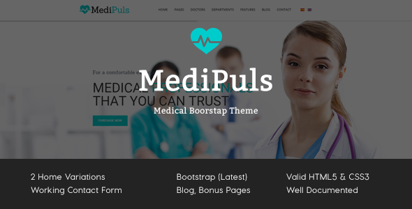 MediPuls – Medical HTML Template (Business) Download