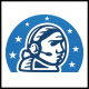 Astronaut Communication Logo