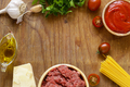 Ingredients For Pasta With Bolognese Sauce