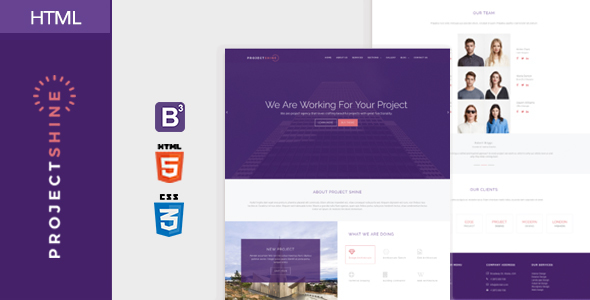 Project Shine - Bootstrap Responsive Onepage HTML Template