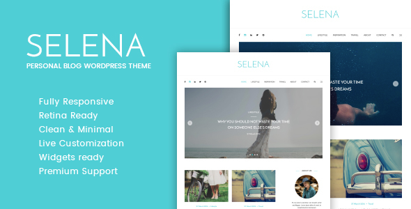 Download Selena - Personal WordPress Blog Theme nulled download