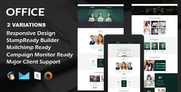 Download OFFICE - Multipurpose Responsive Email Template + Stamp Ready Builder nulled download