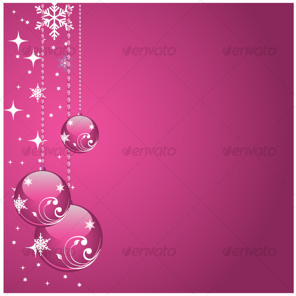 Graphic River Pink balls Vectors -  Conceptual  Seasons/Holidays  Christmas 68970