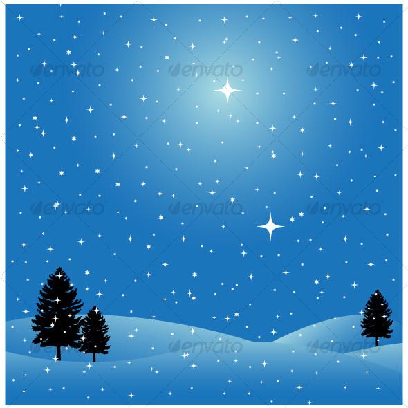 Winter scene - Seasons Nature