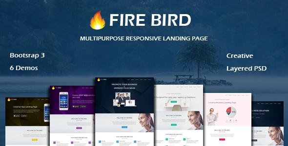 Download FIRE BIRD - Multipurpose Responsive HTML Landing Page nulled download