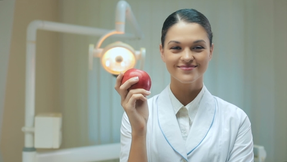 Download Woman Dentist With Apple nulled download
