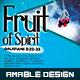 Fruit of Spirit Church Flyer/Poster