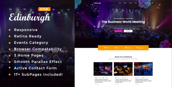 Edinburgh - Conference & Event HTML Template