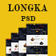 Longka - One Page Restaurant Website PSD Template