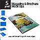 Magazine & Brochure Mock up