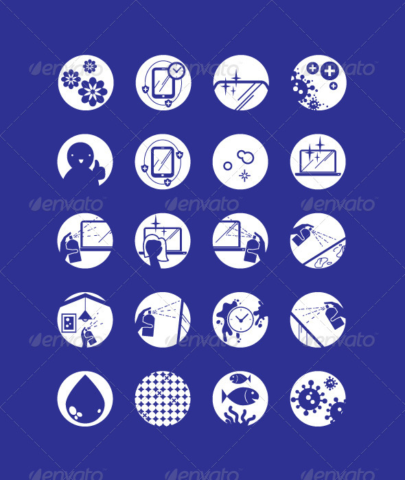 Graphic River Multi-Purpose Cleaner Icons Vectors -  Conceptual  Business  Industries 1773929