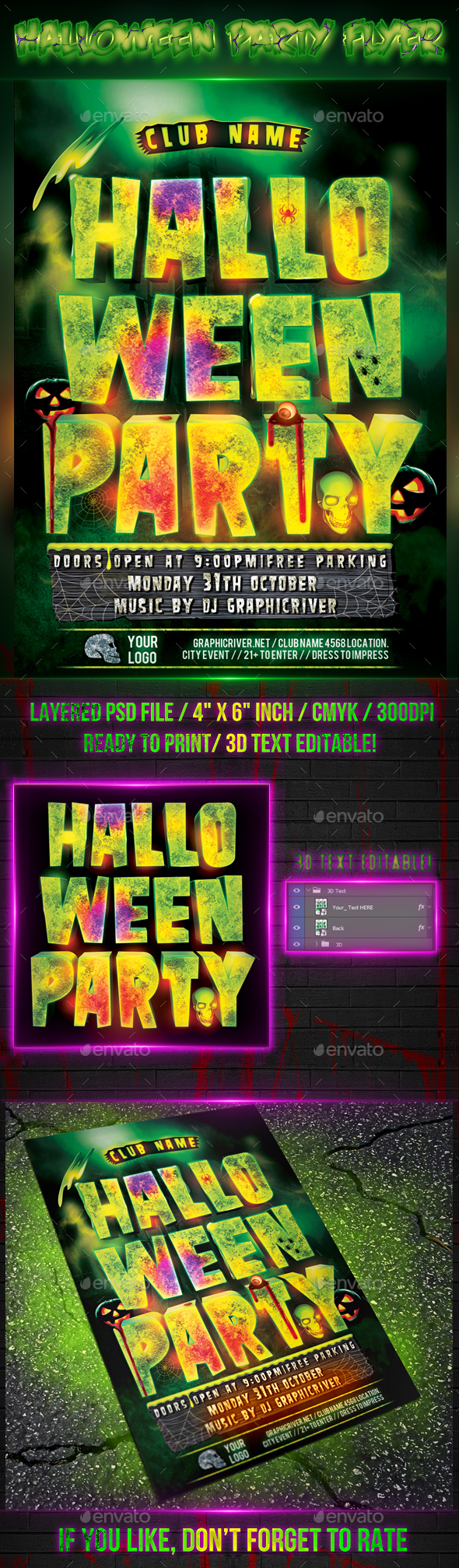 Halloween Party - Flyer Template
