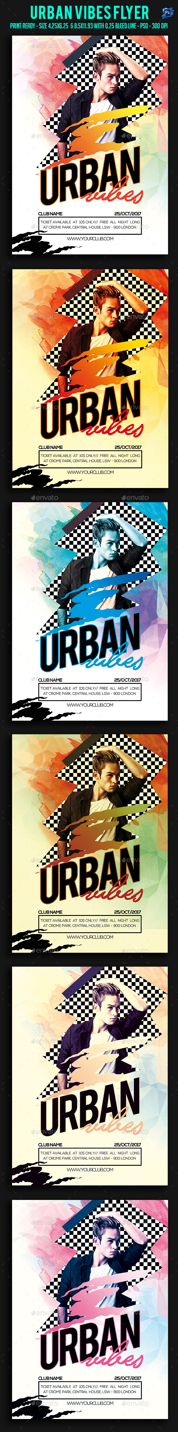 Urban Vibes Party Flyer