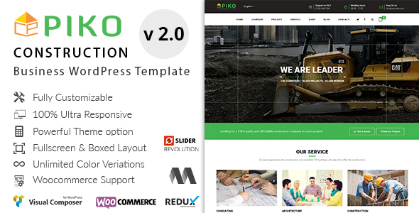 Pikocon - Construction Business WordPress Theme