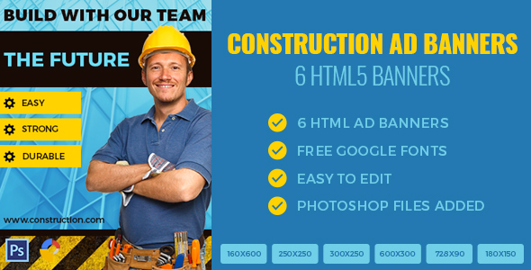 Construction Banners - HTML5 - GWD