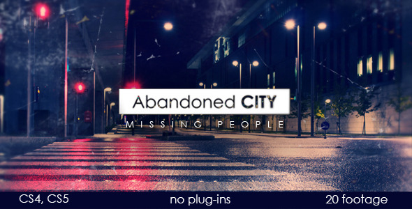 After Effects Project - VideoHive Abandoned city 1775236