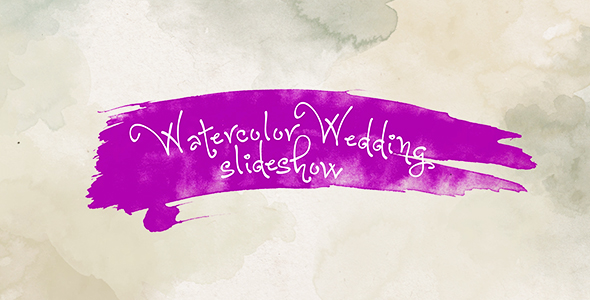 Download Watercolor Wedding Slideshow nulled download