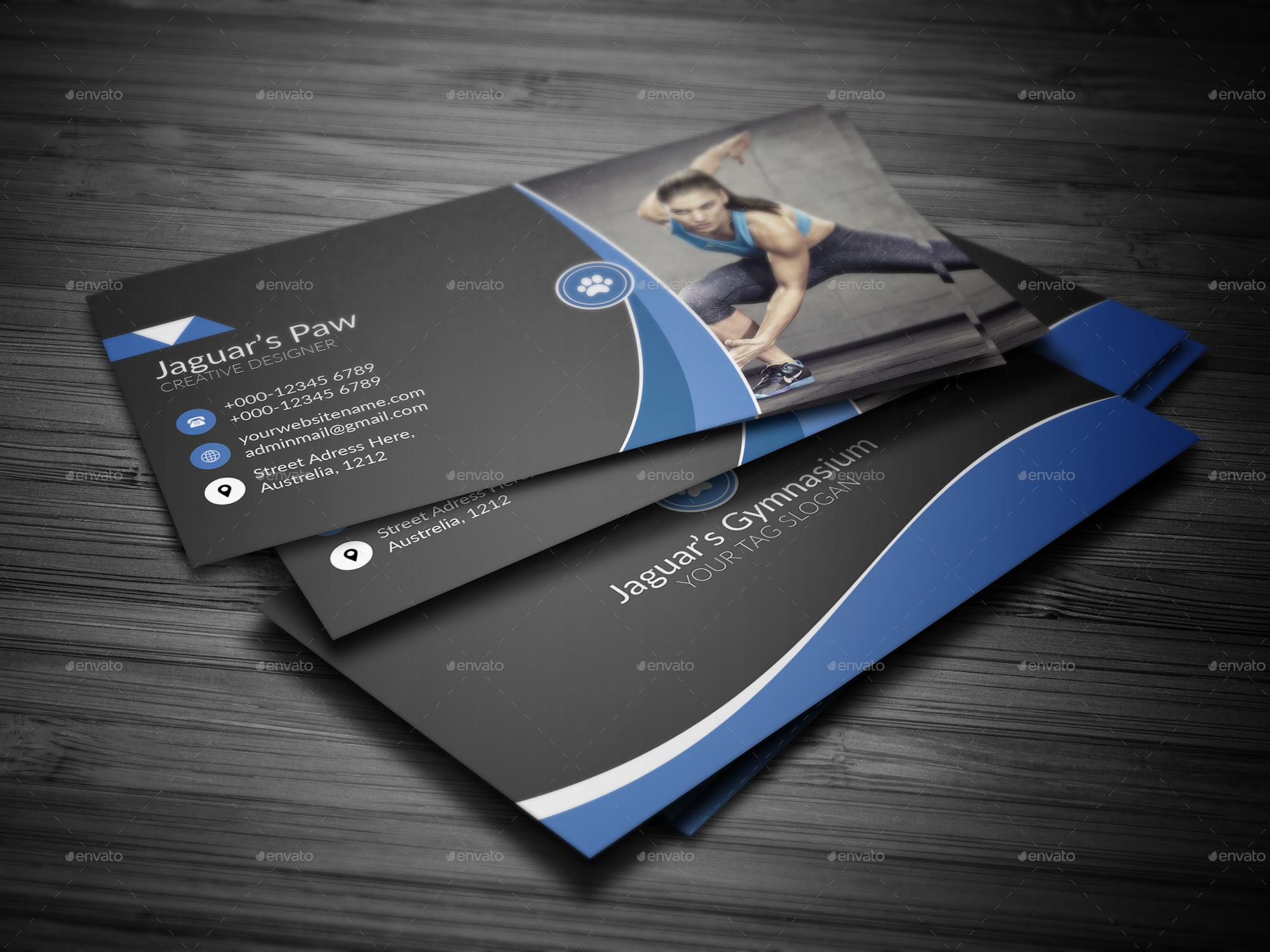 Fitness Business Cards – Guiler Workout