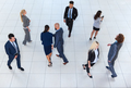 Business People Group Going, Busy Businesspeople Team Crowd Colleague