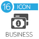 Business and Banking flat gray icons