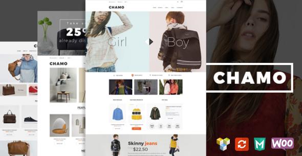 Фото Премиум шаблон Wordpress  Chamo - Responsive WooCommerce WordPress Theme — 01 preview.  large preview