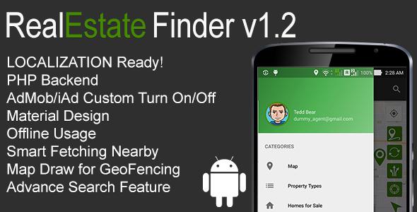 RealEstate Finder Full Android Application v1.2