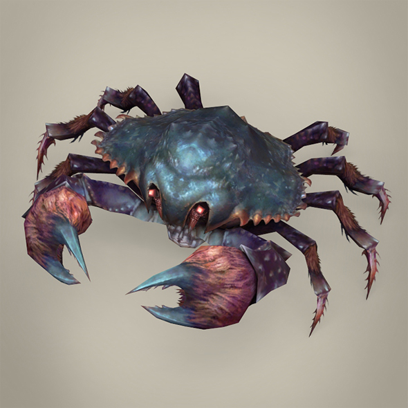 Game Ready Fantasy Krab - 3DOcean Item for Sale