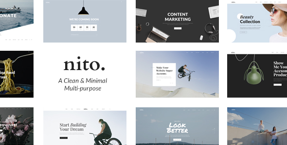 Download Nito - A Clean & Minimal Multi-purpose WordPress Theme nulled download