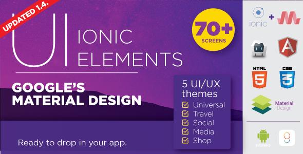 Material Design UI Ionic Template App