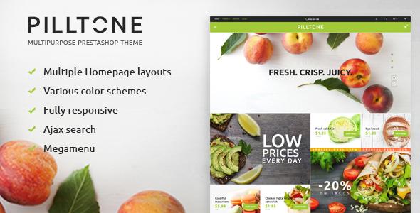 Pilltone – Fresh Food Responsive Prestashop Theme (Shopping)