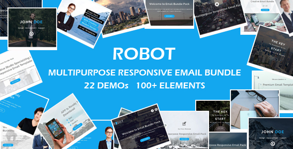 ROBOT - Multipurpose Responsive Email Bundle with Online Stamp Ready Builder Access