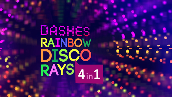 VideoHive Dashes Rainbow Disco Rays 17899821