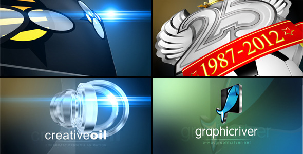 VideoHive Fast & Flashy 3D Logo Stinger Opener 1766458