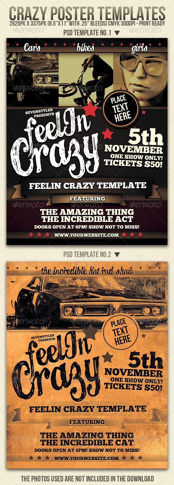 GraphicRiver Crazy Flyer Templates 208966