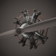 Animated Radial Engine