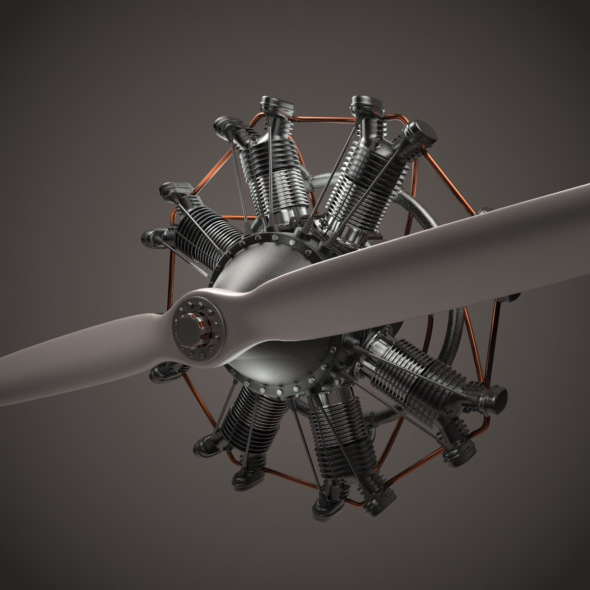 3DOcean Animated Radial Engine 17902524