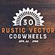 30 Rustic Vector Cogwheels