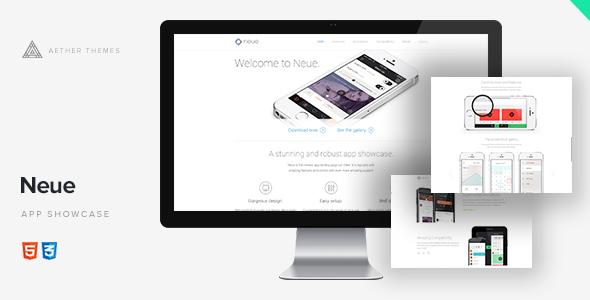 Neue - App Landing Page