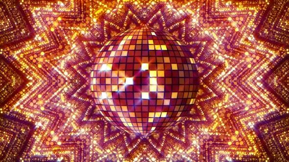 VideoHive Golden Disco Ball Kaleidoscope 17904778