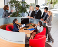 Business People Working, Discussion On Meeting, Group Businesspeople Talking, Team Cooperation