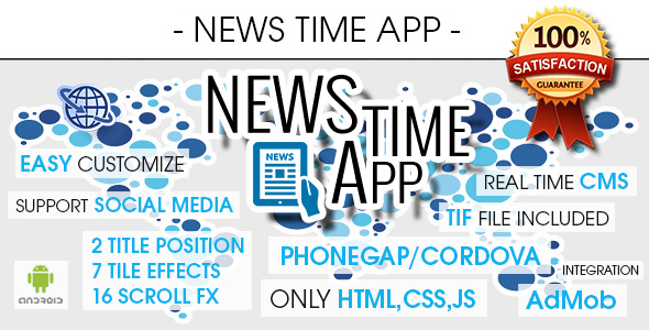 News Time App With CMS - Android - CodeCanyon Item for Sale